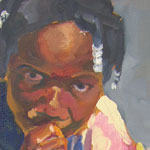 Kemi the Camper, 12 by 24, Oil on Canvas 2001