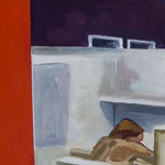 Office Construct #2, Oil on Panel, 24 by 24, 2010